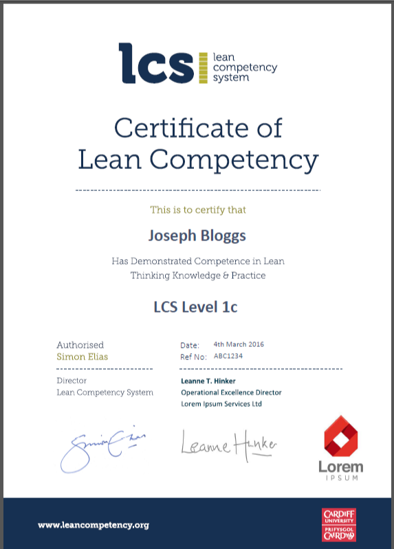 About The Lcs Lean Competency System